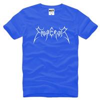 Wholesale T Shirt Emperor - Norway Band Emperor T Shirts Men Fashion Cotton Short Sleeve Black Metal Rock Band Samoth Male T shirt Tops Tees Summer New Hot