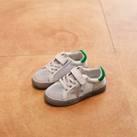 Wholesale Shoes For Little Boys - Kids Fashion Shoes Toddler Boys Girls Sneakers Little Children Genuine Leather Shoe For Kids Breathable Mesh Sports Shoes