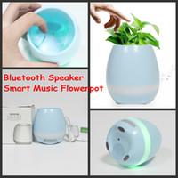 Wholesale Big Plastic Plant Pots - TOKQI Bluetooth Smart Music Flowerpots Plant Piano Music Playing Wireless Flowerpot colorful light Flower pots DHL Shipping whitout Plants