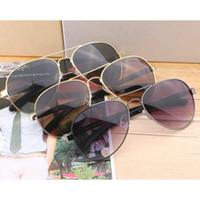 Wholesale frogs sunglasses resale online - fashion men s sunglasses frog mirror fine men s anti UV sunglasses for men mens metal frame sun glasses eyewear sunshades with case box