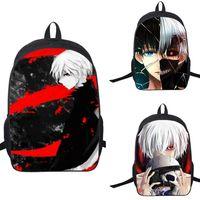 Wholesale 16 Inch Laptop Bags - New Arrivals Tokyo Ghoul Backpack 16 inch Kids 3D printing School Bags Book Bags Children Rucksack Laptop Bags