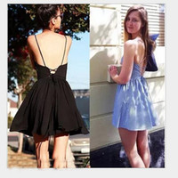 Wholesale Sexy Ladies Stripping - Free Shipping Sexy Backless Strip Dress Strap Short Skirt Beach For Vacation Dresses For Women Ladies Party Dress 3 Style