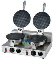 Wholesale Waffle Cones - Free shipping~ 110v 220v double head Ice cream cone maker  waffle cone machine