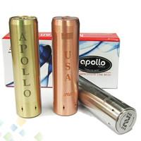 22mm batterie mod großhandel-Neueste Apollo Mod USA E Zigarette Mods 18650 Apollo Machanical Mods 22MM Durchmesser 510 Gewinde für RDA-Zerstäuber passen 18650 Batterie Dhl-frei