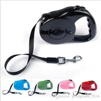 Wholesale Dog Leash Retractable 3m - 3M 5M Retractable Dog Leash Extending Puppy Walking Leads Contains Retail packaging 5 color optional ak113
