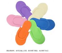 Wholesale disposable thongs - Wholesale-free shipping 12pcs lot Disposable Slipper   EVA Foam Salon Spa Slipper   Disposable Pedicure thong Slippers   Beauty Slipper