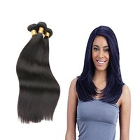 Wholesale Straight Brazilian Hair One Bundle - 3 or 4 pcs one lot Human Hair Bundles Peruvian Hair Straight Natural Color 8-28 Inch Remy Hair Free Shipping