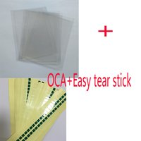 Wholesale Optical Clear Film - 50pcs G9500 G9550 OCA Film Optical Clear Adhesive For Samsung S7 S7edge S8 edge S8+ plus Double Side Glue Sticker LCD Repair easy stear