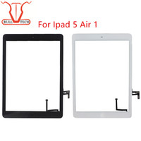 Wholesale Glue Buttons - For iPad air 1 ipad 5 Digitizer Screen Touch Screens Glass Assembly with Home Button Adhesive Glue Sticker Replacement Parts A1474 A1475