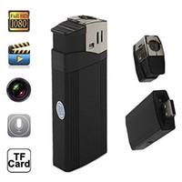 Wholesale Mini Hid Flashlights - Hd 1080P Mini Lighter Hidden Camera with Highlighted Flashlight Support Tf Card Lighter DVR Camcorder