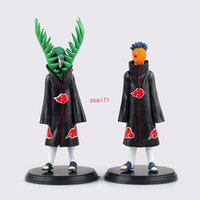 Wholesale Action Figure Madara - 2 Pcs Set Anime Naruto Uchiha Madara Action Figure PVC Akatsuki Figure Collection Model 17 CM Brinquedos Toys For Child Kids Boy
