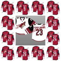 Wholesale Blue Coyote - Arizona Coyotes 2017-2018 Season 9 Clayton Keller 16 Max Domi 36 Luke Schenn 6 Jakob Chychrun 11 Brendan Perlini Max Domi Hockey Jerseys