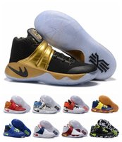 Wholesale Football Boots Usa - New Kyrie Vring 2 Black Gold Champion USA Triple Black Crossover Huarache Cavs Wolf Grey Signature Sneakers Boots size40-46
