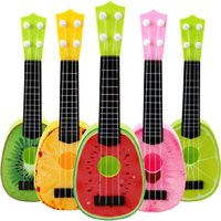 Wholesale Guitar Kid - Children Kids Learn Guitar Ukulele Creative Cute Mini Fruit Can Play Musical Instruments Toys Kids Educational Present