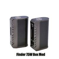 Wholesale carbon chip - Authentic Thinkvape Finder 75W Box Mod Dual 18650 Battery VW Carbon Fiber Mods Powered By Evolv DNA 75 Chip