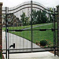 Wholesale we can offline transactions Iron Gate manufacturer supplier in China offering High Quality Crafted Wrought Iron Gate Rust Proof Antiseptic