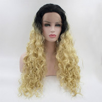 Wholesale Pink Whips - Kalyss the hair whip Women's wig Long Curly Wavy Premium Heat Friendly Synthetic Hair wig Heat Resistant free shipping