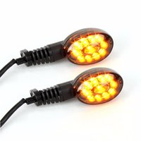 Wholesale Led Rear Turning Motorcycle Light - Motorcycle LED Front Rear Turn Signals Indicator Light Amber Blinker For Kawasaki NINJA 250R 2008- 2012 08 09 10 11 12 Smoke