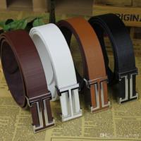 Wholesale Popular Belt Brands - New Designer Famous Fashion Leather Popular Belt Brand Mens Belts Luxury Classic Unisex Genuine PU Leather Belt free shipping