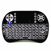 Wholesale Android Tv Box Remote Combo - Mini 2.4 GHz Backlit Wireless Keyboard and Mouse Combo with Touchpad LED Remote Control for PC Android TV Box Windows XP Vista 7 8 10