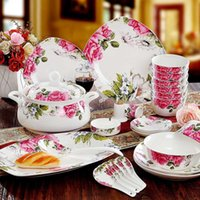 Wholesale New year Fine Bone china Dinnerware Sets Diligent Royal porcelain dinner tableware sets