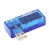 Wholesale power supply current display - Wholesale- Mini USB Charger Current Voltage Tester Detector 4-Digit Red LED Display 3.5-7V Detector USB Voltmeter Power Supply for Mobile