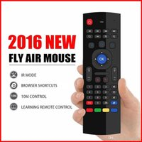 Wholesale Touch Learning - X8 Air Fly Mouse MX3 2.4GHz Wireless Keyboard Remote Control Somatosensory IR Learning 6 Axis without Mic For MXQ Android TV Box