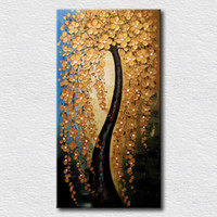 Wholesale tree life canvas print resale online - Tree with Flowers High Quality Handicrafts HD Print Modern Abstract Art Oil Painting On Canvas For Home Decor Multi sizes customized