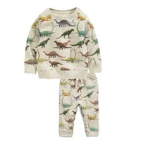Wholesale Boys Dinosaur Clothes - Cool Dinosaur Play set Sweatshirt sets Boys clothing Knit Pullover Top + pant 2pcs set 2017 Fall Spring Winter Wholesale 2-7T