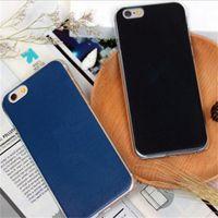 modelos de teléfono más nuevos al por mayor-2017 la moda más nueva arte simple relámpago cajas del teléfono negro y azul modelos de pareja Cáscara del teléfono móvil