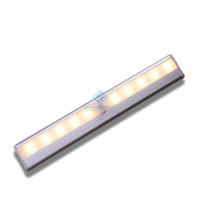 lamba satışı toptan satış-Kapalı Aydınlatma lambası USB İnsan Sensörü Işık Indüksiyon Lambaları Gardırop Alüminyum Alaşım LED Kabine Işıkları Şarj Sıcak Satmak 19 ...