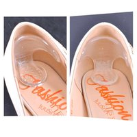 Wholesale shoe inserts for heels - 5Pair Transparent High Heel Shoes Stickers Gel Pads Silicone Insole Protector For Heels Rubbing Foot Care Pedicure Tools Gel Insoles Insert