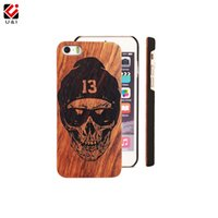 Durable Natural Solid Wood PC Cell Phone Case para iPhone 6 6s 6 s Win Win UI Brand Mobile Cover em Bulk Wholesale