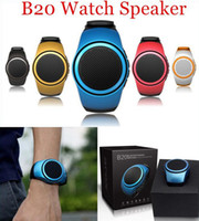 Wholesale Mini Box Watches - ZZYD B20 Mini Bluetooth Speaker Bass Smart Watch Bluetooth Wireless Universal For Music Player With TF Card.