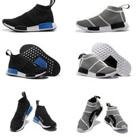Wholesale Mens Outdoor Socks - NMD_CS1 PK Runner City Sock Nmd Cs1 CS 1 Mens Women Classic Running Shoes Fashion City Sock Cs1 Primeknit Grey Sports Sneakers size36-44