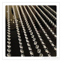 Wholesale Decorative Curtain Beads - Wholesale Crystal Garland DHL Hot Beads Chain Curtain Transparent Crystal Clear Acrylic Bead Garland Wedding Supplies Party Decoration DHL