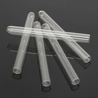 Wholesale 1mm Tube - Wholesale- KiCute 5pcs Clear Glass Pyrex Test Tubes 10mm OD 8mm ID Tubing 1mm Thick Long 100mm Wall Laboratory School Educational Supplies