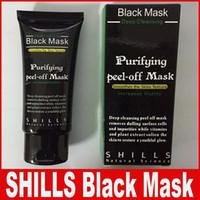 masque de peau d'algues achat en gros de-SHILLS Démaquillant Pur Masque Noir Pore Cleaner 50 ml Purifiant Peel-off Masque Blackhead Masque Facial Livraison DHL Gratuite