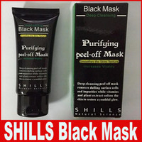 máscara de peeling de algas al por mayor-SHILLS Deep Cleansing Black Mask Limpiador de poros 50ml Purifying Peel-off Mask Blackhead Máscara facial Free Envío de DHL