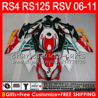 Wholesale 125 kit for sale - Body For Aprilia RS4 RSV125 RS125 RS125R RS HM11 RSV RS Fairing Kit Red white