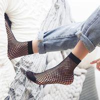 Wholesale Cheap Nylon Netting - 2017 Women socks fishnet stockings Short Summer Black Fishing net sox Fashion Stars Hollow out All-matched New arrival cheap wholesale