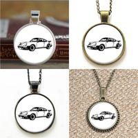 Wholesale Vintage Sports Cars - 10pcs Vintage Sports Car Retro Necklace keyring bookmark cufflink earring bracelet