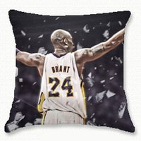 Wholesale Basketball Sofa - Kobe Bryant basketball star cushion cover wholesale factory direct pillow case sofa car lumbar back pillow cover 45*45cm sided high-quality