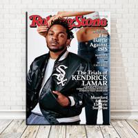 Wholesale Mm Records - ZZ1765 Kendrick Lamar Hip Hop Recording Artist Rapper Music Pop Art Poster Top Fabric Home Wall Decor paintings art unframed