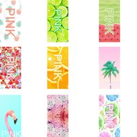 Wholesale Hair Flowers For Adults - Pink Beach Towels Yoga Mats Bath Towel VS Fruit Flamingo Rose Flower Washcloth Faceclothes for Women Outdoor Spa 35*75CM 70*140CM 25ht2