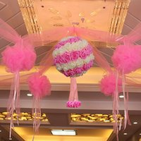Wholesale Tissue Meter - 9 Meter Organza Sheer Gauze Table Runner Tissue Tulle Roll Spool Craft Party Crystal Chiffon Birthday Party Wedding Decoration