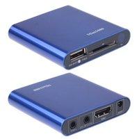 Wholesale Mini Car Tv - Wholesale- free Shipping!8GB U disk Drive+Car adapter Mini Multi TV Media Player HDMI 1080P USB SD MMC RMVB MP3 AVI MPEG Divx MKV