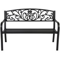 Wholesale 50 quot Patio Garden Bench Park Yard Outdoor Furniture Steel Frame Porch Chair