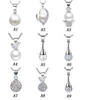 Wholesale Pearl Necklace Women Long - Long Pearl Pendants 925 Sterling Silver Necklaces Luxury Pearl Fashion Women Necklace Pendant Shambhala Ball Ladies Jewelry