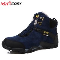 Wholesale Warm Climbing Shoes - Wholesale-New Outdoor Climbing Traveling Camping Snow Boots Winter Fur Warm Martin Shoes Waterproof Ankle Botas Brand Men Boots Size 38-44